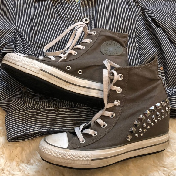 ccd5a15da6702c Converse Shoes - Converse All Star Wedge Heel Studded Sneaker Shoes
